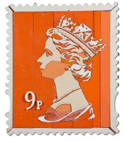 9p Queen Stamp