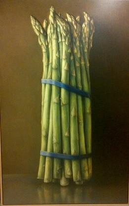 James Del Grosso  Asparagus I  Oil on canvas  193 x 122