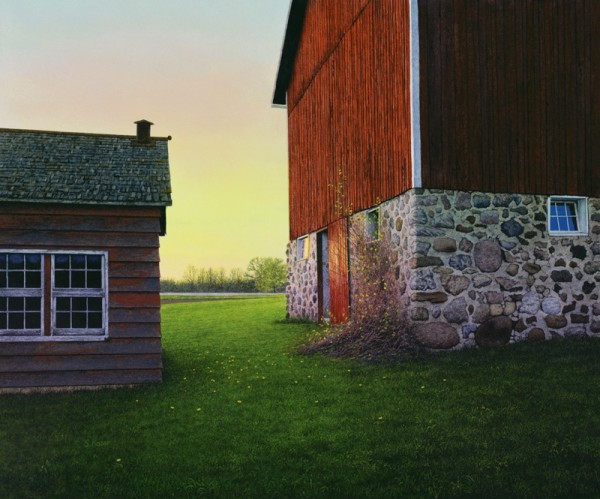 <span class=%22title%22>Spring Barn Sunset</span>