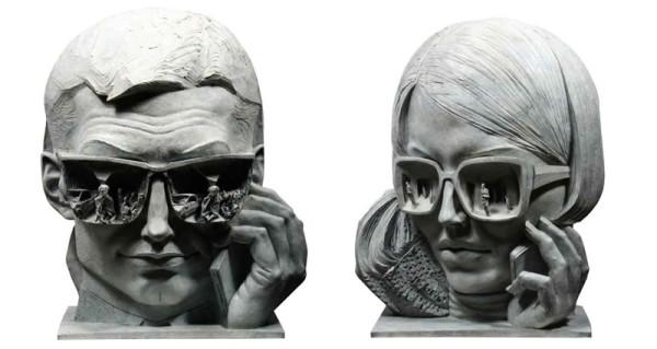 Paul Day i-people Bronze 63 x 50 x 28 cm