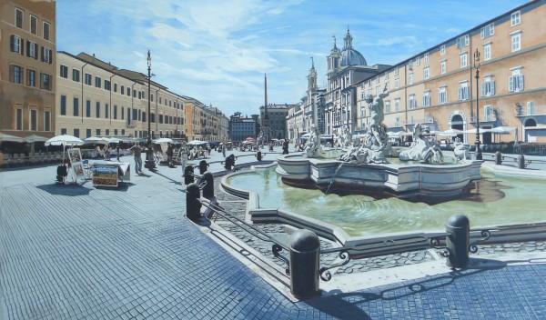 David Wheeler, Study: Luce del Mattino (Piazza Navona, Rome)