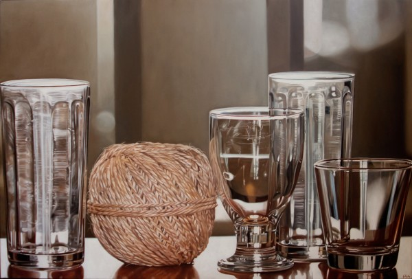 Jacques Bodin  Ariadne versus Bacchus, 2016  Oil on canvas  157 x 106 cm