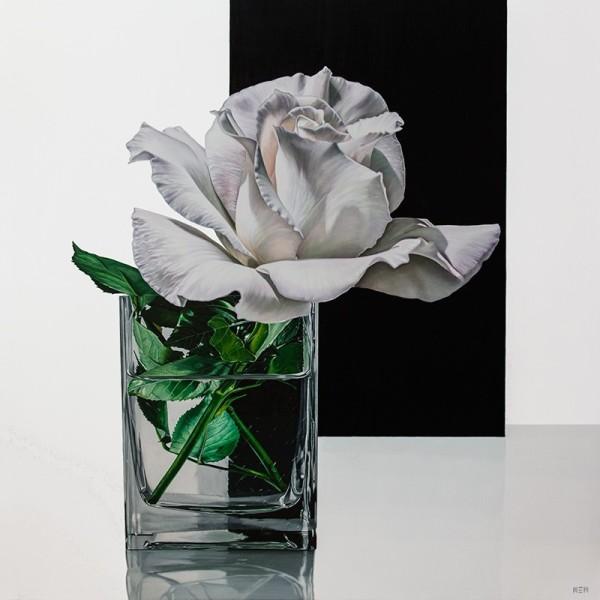 Elena Molinari White Solitude Oil on canvas 120 x 120 cm