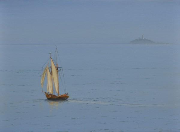 Carl Laubin, Topsail schooner, St. Ives 2