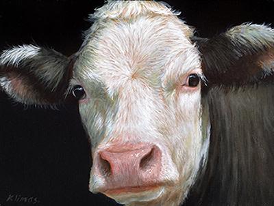 Alexandra Klimas, Miniature painting, Rosie the Calf