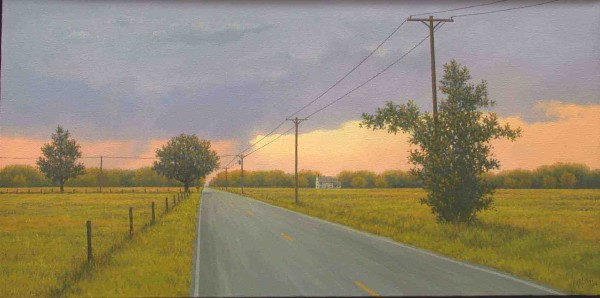 Simon Harling, Country Road Under a Stormy Sky