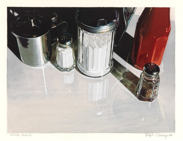 "Ralph Goings Diner Objects Gouache on paper 9"" x 12"" or 22.8 x 30.5 cm"