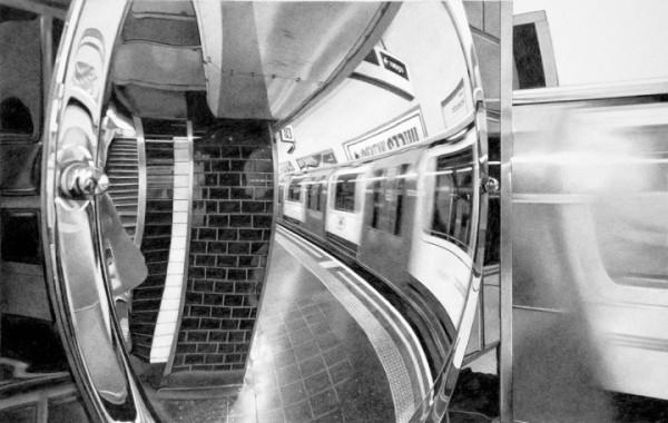 Roger Watt  Going Underground, 2016  Graphite on Bristol board  24 x 38 cm 47 x 61 cm (framed)