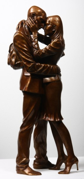Paul Day The Meeting Place (mezzo), Artist Proof III/IV Bronze 105 x 49.5 x 34 cm