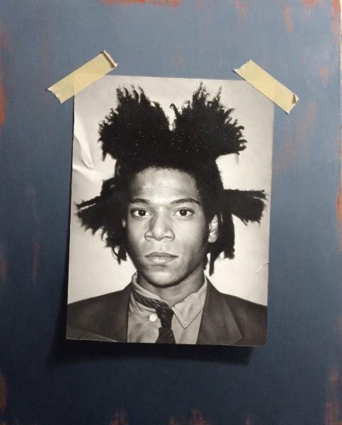 Otto Duecker  Basquiat  Oil on board  32 x 39 cm
