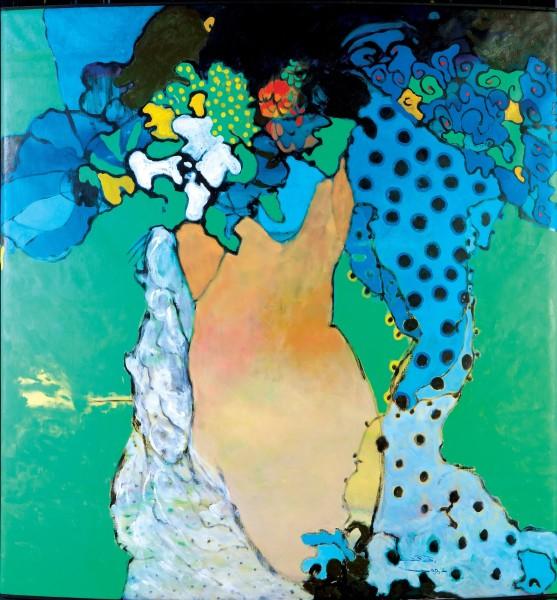 Rashid Al Khalifa, Figurative Landscape II, 1998