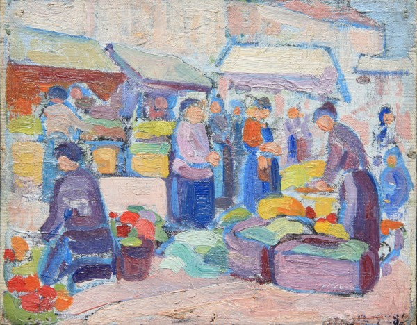 Harry Phelan Gibb, Paris Market, 1910-14
