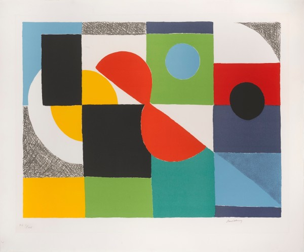 Sonia Delaunay, Grand Helice Rouge, 1970