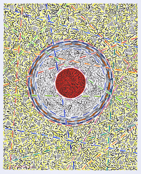 Gérard Charrière, Visual and Abstract Writing 1, 2013