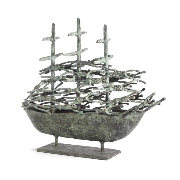 John Behan RHA, Westport Famine Ship III