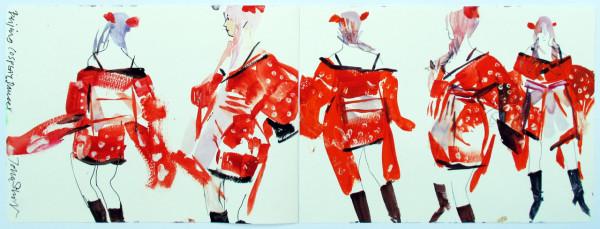John Short, Cosplay dancer, Beijing (China sketchbook)