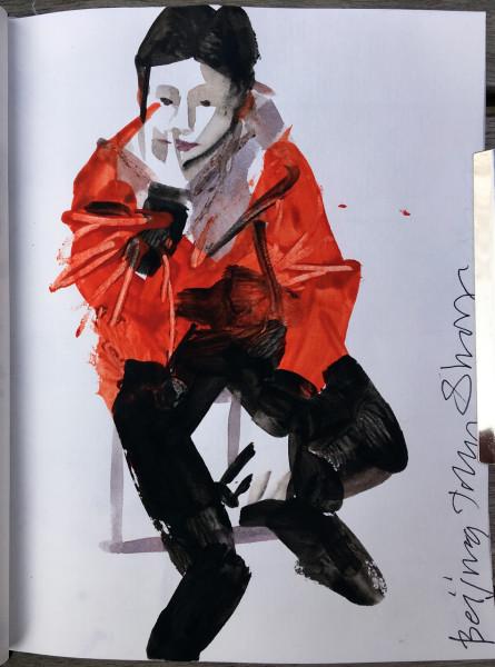 John Short, Seated Boy (China sketchbook)
