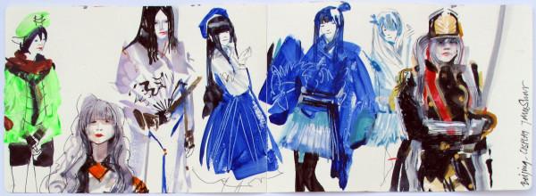John Short, Cosplay group, Beijing (China sketchbook)