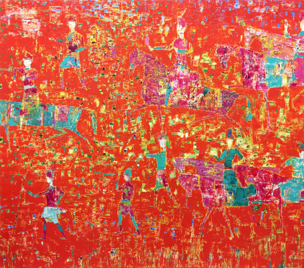 Reza Derakshani, Hunting Red, 2016