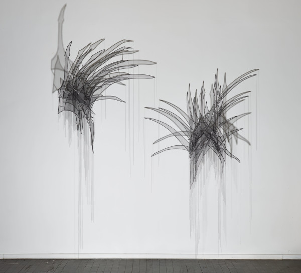Afruz Amighi, Head Feather I, Head Feather II, 2017
