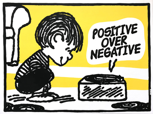 Mark Drew, Positive Over Negative (CL Smooth), 2018