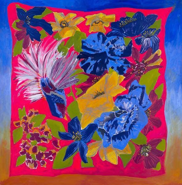 Anna Valdez, Tropical scarf, 2017