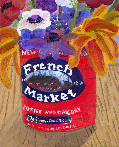 Anna Valdez, Garden Flowers in French Market Can FOR WEB, 2017