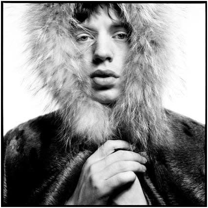 David Bailey, Mick Jagger Fur Hood, 1964