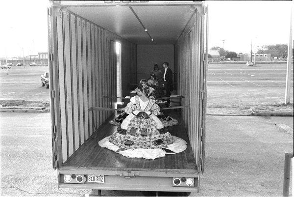 Laura Wilson, Debutantes Arriving at Ball in Moving Van, Laredo, Texas, 1993
