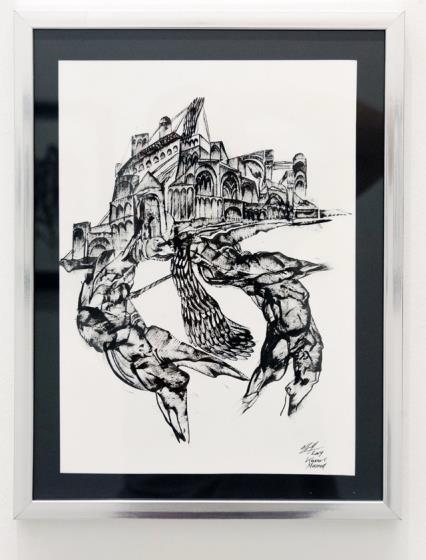 Kevork Mourad, Paris Drawings VI - X| , 2019