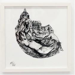 Kevork Mourad, I Paris Drawings I-IV, 2019