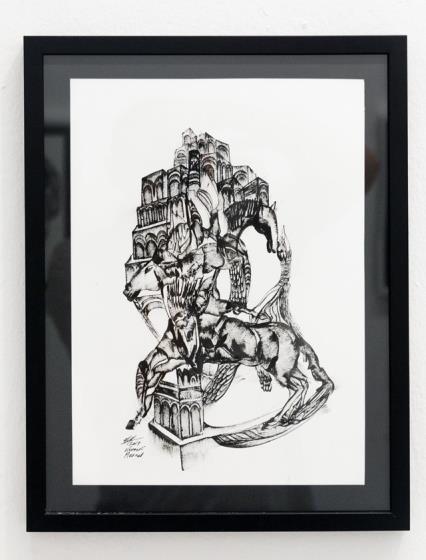 Kevork Mourad, VII Paris Drawings VI - X| , 2019
