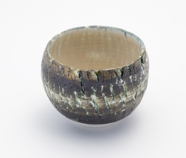 Hugh West, Small Black Crackled Bowl