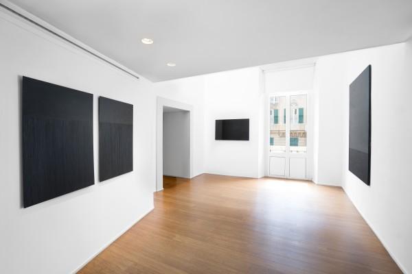 1 Tomas Rajlch Black Paintings 1976 79 Installation View