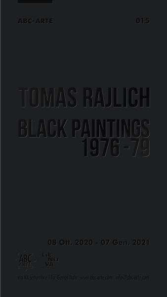 Tomas Rajlich Black Paintings 1976 79 Abc Arte Invito Ita