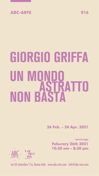 Giorgio Griffa. Un mondo astratto non basta, ABC-ARTE
