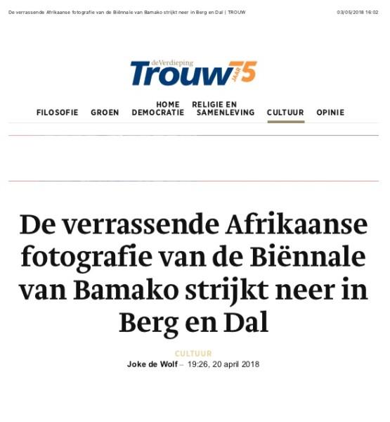 De verrassende Afrikaanse fotografie van de Biënnale van Bamako strijkt neer in Berg en Dal