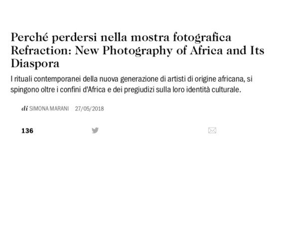 Perché perdersi nella mostra fotografica Refraction: New Photography of Africa and Its Diaspora