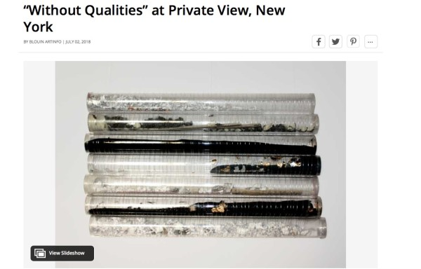 """""""Without Qualities"""" at Private View, New York"""