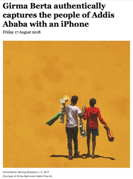Girma Berta authentically captures the people of Addis Ababa with an iPhone