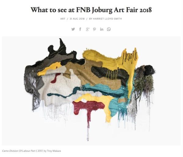 What to see at FNB Joburg Art Fair 2018
