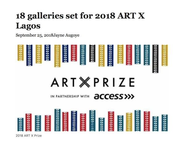 18 galleries set for 2018 ART X Lagos | Premium Times NG | Image
