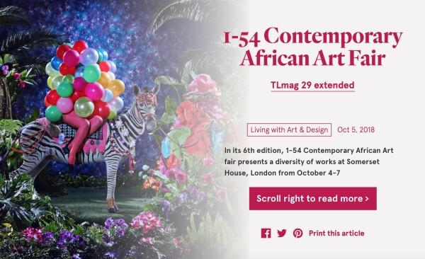 1-54 Contemporary African Art Fair | TL Magazine | Image