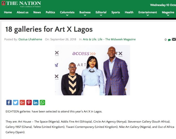 18 galleries for Art X Lagos - The Nation Nigeria | Image