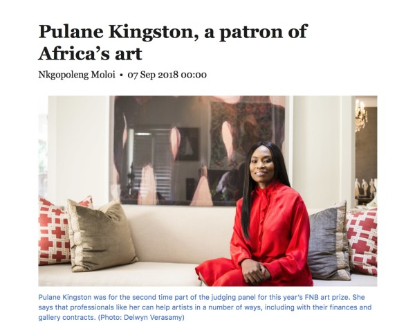 Pulane Kingston, a patron of Africa's art | Mail & Guardian | Image