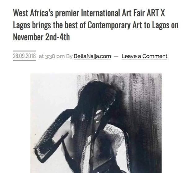 West Africa's premier International Art Fair ART X Lagos brings the best of Contemporary Art to Lagos on November 2nd-4th | Bellanaija | Image