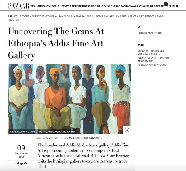 Uncovering The Gems At Ethiopia's Addis Fine Art Gallery | Harpers Bazaar Art Arabia | Image