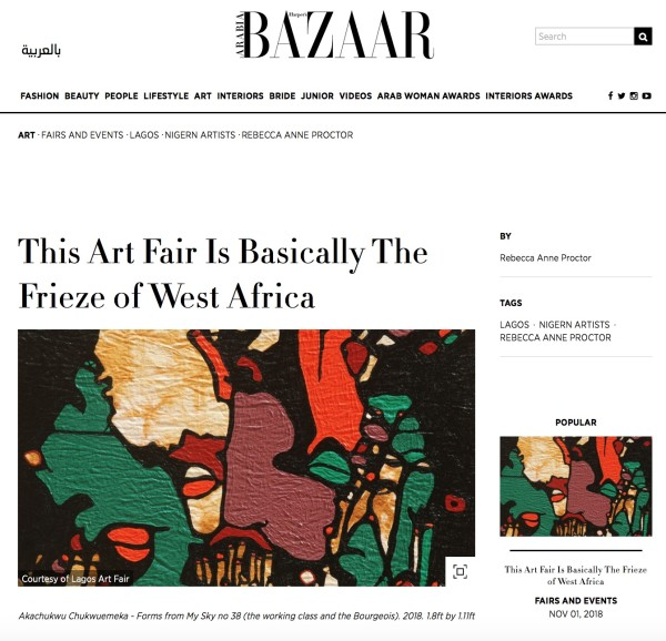 This Art Fair Is Basically The Frieze of West Africa