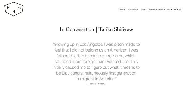 In Conversation | Tariku Shiferaw Image