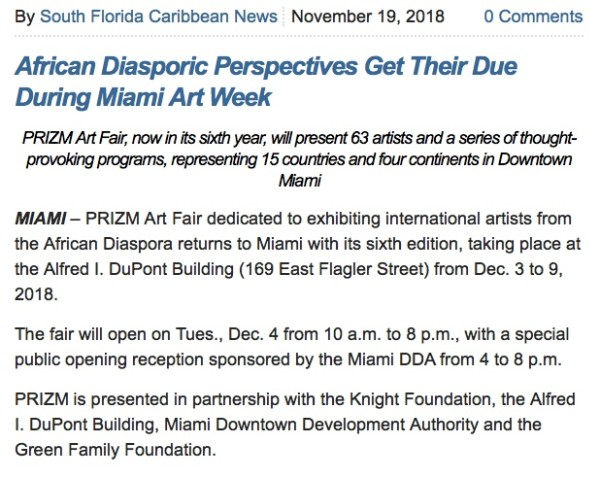African Diasporic Perspectives Get Their Due During Miami Art Week | Main Image